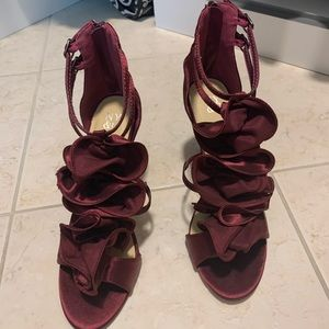 NY&C Burgundy Dress Heels
